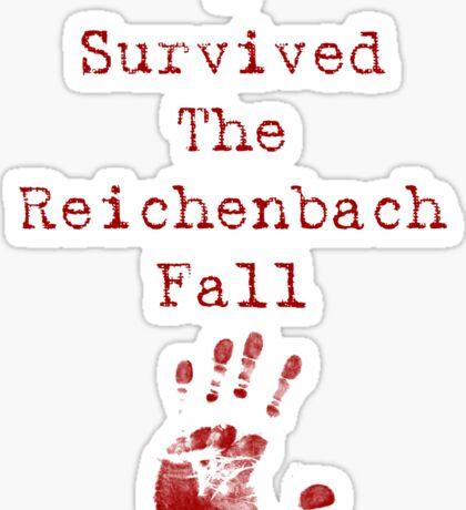 I Survived The Reichenbach Fall Sticker