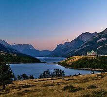 Waterton Lake vista by Peter Luxem