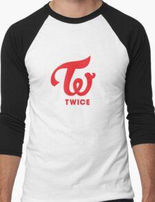 Twice Logo Men's Baseball ¾ T-Shirt