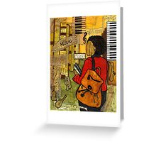 Urban Music Student Greeting Card