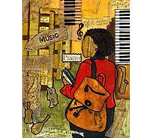 Urban Music Student Photographic Print