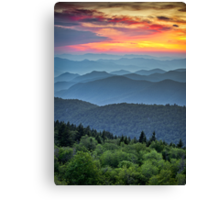 Blue Ridge Parkway Sunset - The Great Blue Yonder Canvas Print