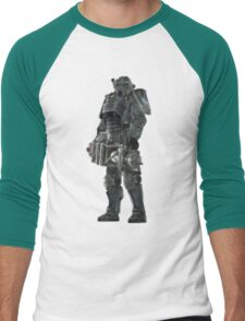Pixel Brother of Steel Paladin Men's Baseball ¾ T-Shirt