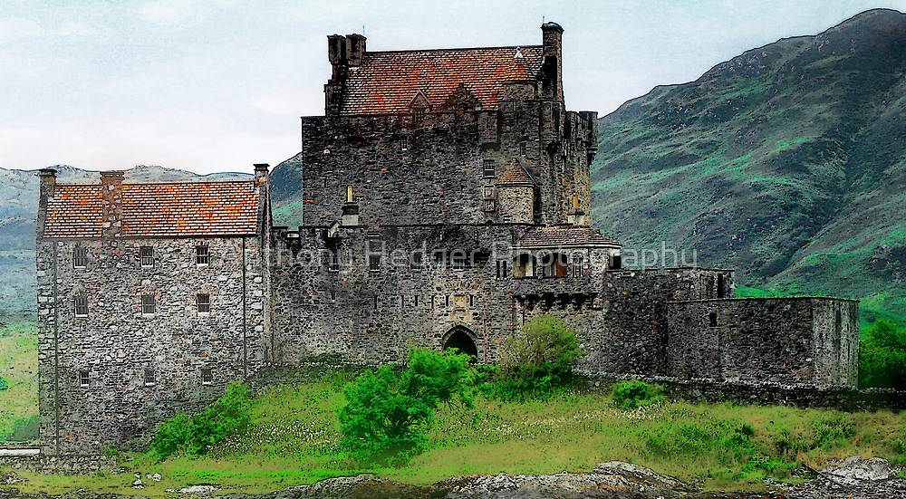 The painted Castle Eilean Donan by Anthony Hedger Photography