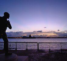 Johnnie Walker Statue, Liverpool by Michelle McMahon