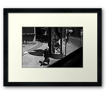 LONDON: VIEWS FROM THE TOP DECK PT 14: BECAUSE I'M WORTHLESS Framed Print