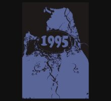 1995 Purple, black retro vintage T-shirt by Nhan Ngo