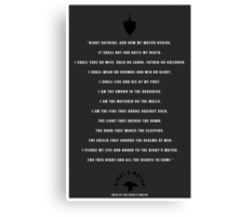 Night's Watch Oath Canvas Print