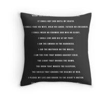 Night's Watch Oath Throw Pillow