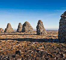 Nine Standards Rigg - Pennine Hills by David Lewins