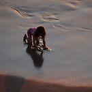 The Girl At The Beach - La Jovencita En La Playa by Bernhard Matejka