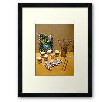 Tools Of The Artist By Jonathan Green Framed Print