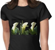 Calla lilies collage II Womens Fitted T-Shirt