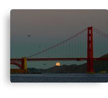 San Francisco Moon Set  Canvas Print