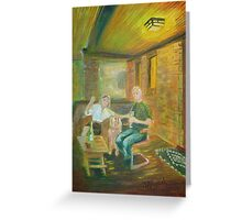 """No. 100 of 100 Salt Lake City Porches- """"Toast of the Project"""" Greeting Card"""