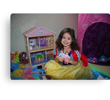 Snow White And Doll House Canvas Print