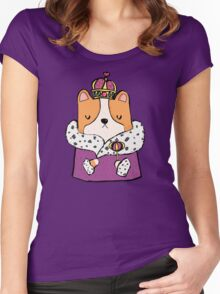 Queen Corgi Women's Fitted Scoop T-Shirt