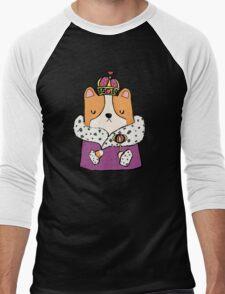 Queen Corgi Men's Baseball ¾ T-Shirt