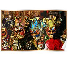 Venice and Masks Poster