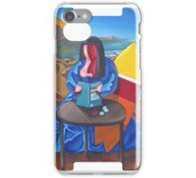 Mona lisa was a surfer iPhone Case/Skin