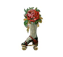 Steampunk Roller Skate Boot Photographic Print