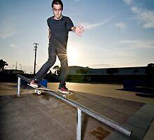Skateboarder on a slide by homydesign