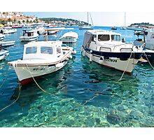 two boats in Hvar Photographic Print