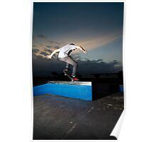 Skateboarder on a grind Poster