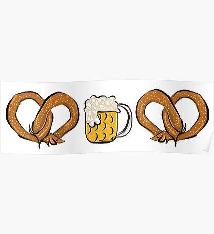 Pretzel Dog & Beer Poster