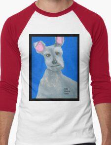 The Oil Pastel Scotty Dog by Julia Hanna Men's Baseball ¾ T-Shirt