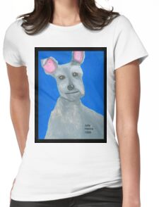 The Oil Pastel Scotty Dog by Julia Hanna Womens Fitted T-Shirt