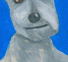 The Oil Pastel Scotty Dog by Julia Hanna Sticker