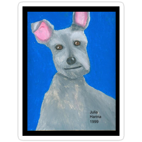 The Oil Pastel Scotty Dog by Julia Hanna by Bearie23