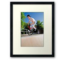 BMX Bike Stunt Framed Print
