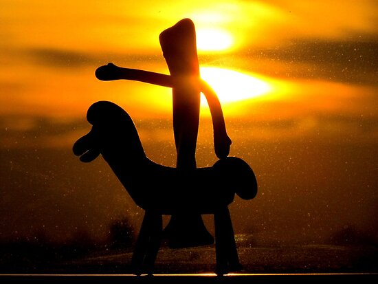 Gumby rides into the sunset by Alberto  DeJesus