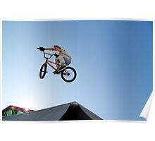 BMX Bike Stunt Table Top Poster