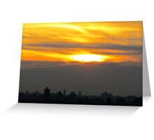 Sunset visions, New York City Greeting Card
