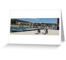 cyclists in Hvar Greeting Card