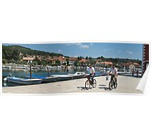 cyclists in Hvar Poster