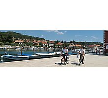 cyclists in Hvar Photographic Print