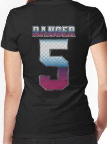 (5) Danger Women's Fitted V-Neck T-Shirt