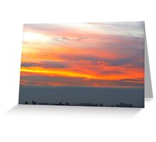 Sunset hues, New York City  Greeting Card