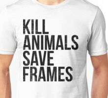 Kill Animals - Save Frames Unisex T-Shirt