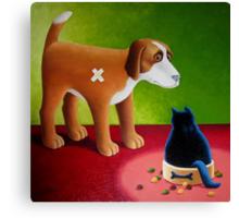 Dogs Dinner Canvas Print