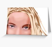Her Eyes Two Greeting Card