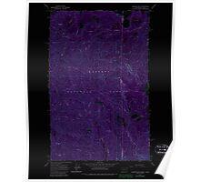 USGS Topo Map Washington State WA Gleason Mtn 241317 1967 24000 Inverted Poster