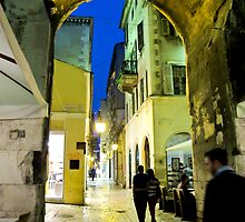 night scene in Split by Anne Scantlebury