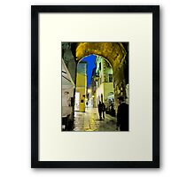 night scene in Split Framed Print