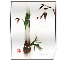 Little Lady - Zen bamboo ladybug painting Poster