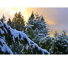 Frosty Alpenglow Photographic Print